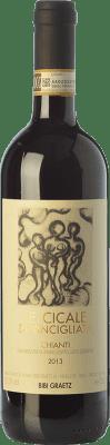 9,95 € Free Shipping | Red wine Bibi Graetz Le Cicale di Vincigliata D.O.C.G. Chianti Tuscany Italy Sangiovese, Montepulciano Bottle 75 cl