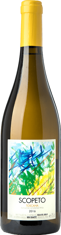 16,95 € Free Shipping | White wine Bibi Graetz Scopeto I.G.T. Toscana Tuscany Italy Vermentino, Ansonica Bottle 75 cl