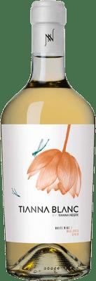 25,95 € Envío gratis | Vino blanco Tianna Negre Ses Nines Blanc Ecològic D.O. Binissalem Islas Baleares España Giró Ros Botella 75 cl