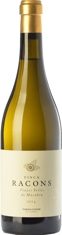 22,95 € Free Shipping | White wine Tomàs Cusiné Finca Racons Crianza D.O. Costers del Segre Catalonia Spain Macabeo Bottle 75 cl