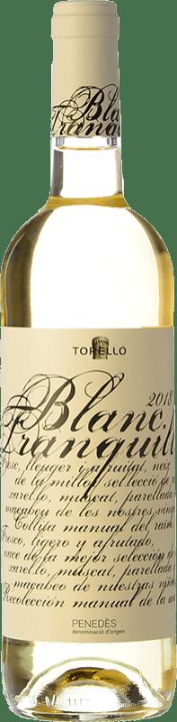 6,95 € Envoi gratuit | Vin blanc Torelló Blanc Tranquille D.O. Penedès Catalogne Espagne Macabeo, Xarel·lo, Parellada Bouteille 75 cl