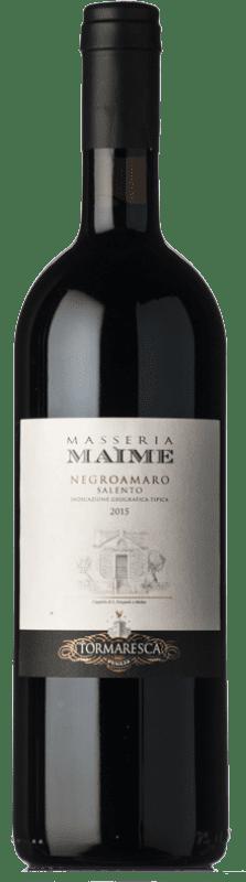 27,95 € Envío gratis | Vino tinto Tormaresca Masseria Maìme I.G.T. Salento Campania Italia Negroamaro Botella 75 cl