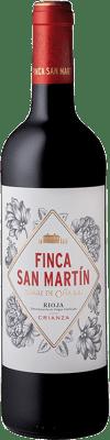8,95 € Kostenloser Versand | Rotwein Torre de Oña Finca San Martín Crianza D.O.Ca. Rioja La Rioja Spanien Tempranillo Flasche 75 cl
