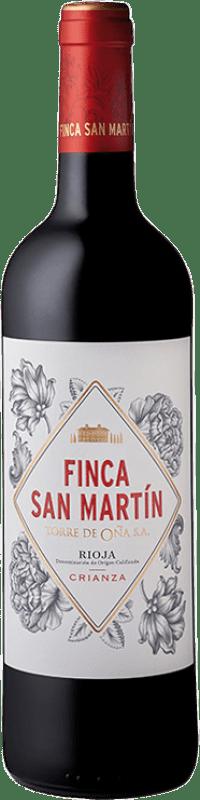 8,95 € Free Shipping | Red wine Torre de Oña Finca San Martín Crianza D.O.Ca. Rioja The Rioja Spain Tempranillo Bottle 75 cl