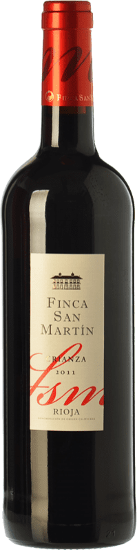 8,95 € Envoi gratuit | Vin rouge Torre de Oña Finca San Martín Crianza D.O.Ca. Rioja La Rioja Espagne Tempranillo Bouteille 75 cl