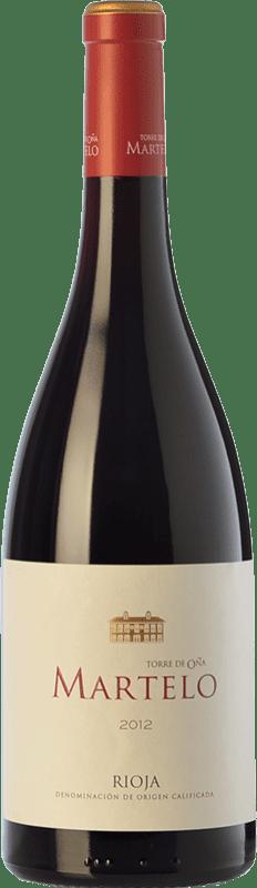 19,95 € Envoi gratuit | Vin rouge Torre de Oña Martelo Reserva D.O.Ca. Rioja La Rioja Espagne Tempranillo, Grenache, Mazuelo, Viura Bouteille 75 cl