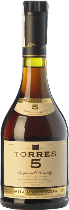 13,95 € Free Shipping | Brandy Torres 5 D.O. Catalunya Catalonia Spain Bottle 70 cl