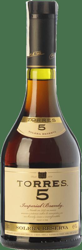 11,95 € Envío gratis | Brandy Torres 5 D.O. Catalunya Cataluña España Botella 70 cl