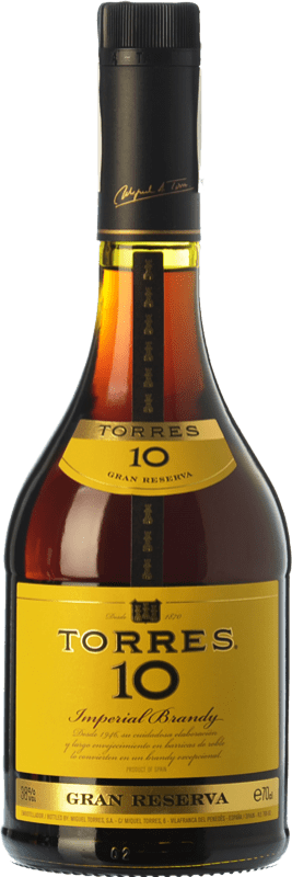 13,95 € Free Shipping | Brandy Torres 10 D.O. Catalunya Catalonia Spain Bottle 70 cl