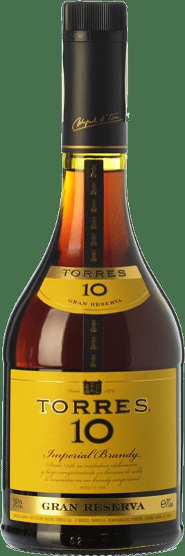 13,95 € Envío gratis | Brandy Torres 10 D.O. Catalunya Cataluña España Botella 70 cl