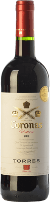 7,95 € Free Shipping | Red wine Torres Coronas Crianza D.O. Catalunya Catalonia Spain Tempranillo, Cabernet Sauvignon Bottle 75 cl
