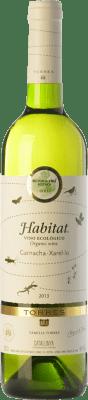 7,95 € Free Shipping | White wine Torres Hábitat Orgánico D.O. Catalunya Catalonia Spain Grenache White, Xarel·lo Bottle 75 cl