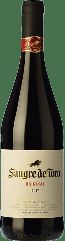 5,95 € Free Shipping | Red wine Torres Sangre de Toro Joven D.O. Catalunya Catalonia Spain Grenache, Carignan Bottle 75 cl