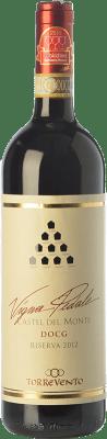 17,95 € Free Shipping | Red wine Torrevento Vigna Pedale Reserva D.O.C.G. Castel del Monte Rosso Riserva Puglia Italy Nero di Troia Bottle 75 cl