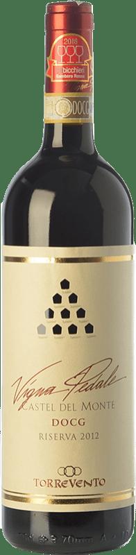 15,95 € Free Shipping | Red wine Torrevento Vigna Pedale Reserva D.O.C.G. Castel del Monte Rosso Riserva Puglia Italy Nero di Troia Bottle 75 cl