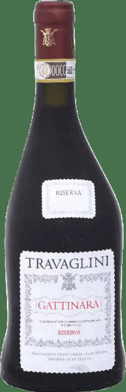 32,95 € Free Shipping | Red wine Travaglini Riserva Reserva D.O.C.G. Gattinara Piemonte Italy Nebbiolo Bottle 75 cl