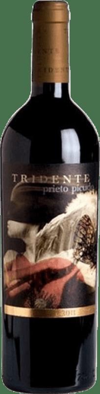 23,95 € Envío gratis | Vino tinto Tritón Tridente Crianza I.G.P. Vino de la Tierra de Castilla y León Castilla y León España Prieto Picudo Botella 75 cl