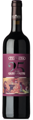 73,95 € Free Shipping | Red wine Tua Rita Giusto di Notri I.G.T. Toscana Tuscany Italy Merlot, Cabernet Sauvignon, Cabernet Franc Bottle 75 cl