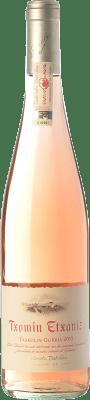 12,95 € Free Shipping | Rosé wine Txomin Etxaniz Rosé D.O. Getariako Txakolina Basque Country Spain Hondarribi Zuri, Hondarribi Beltza Bottle 75 cl