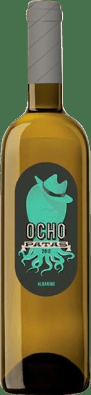 13,95 € Envio grátis | Vinho branco Uvas de Cuvée Ocho Patas D.O. Rías Baixas Galiza Espanha Albariño Garrafa 75 cl