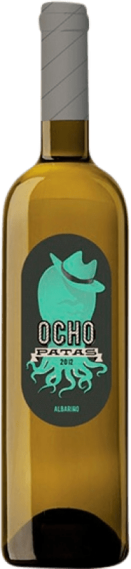 13,95 € Free Shipping | White wine Uvas de Cuvée Ocho Patas D.O. Rías Baixas Galicia Spain Albariño Bottle 75 cl