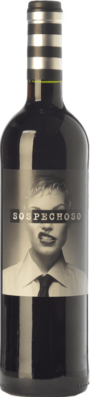 10,95 € Free Shipping | Red wine Uvas Felices Sospechoso Joven I.G.P. Vino de la Tierra de Castilla Castilla la Mancha Spain Tempranillo, Tinta de Toro Jéroboam Bottle-Double Magnum 3 L