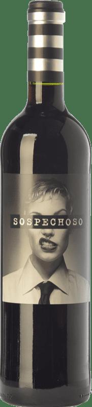 11,95 € Free Shipping | Red wine Uvas Felices Sospechoso I.G.P. Vino de la Tierra de Castilla Castilla la Mancha Spain Tempranillo, Tinta de Toro Special Bottle 5 L