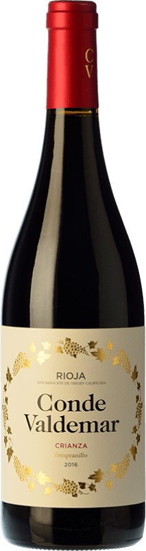 15,95 € Kostenloser Versand | Rotwein Valdemar Conde de Valdemar Crianza D.O.Ca. Rioja La Rioja Spanien Tempranillo, Mazuelo Magnum-Flasche 1,5 L