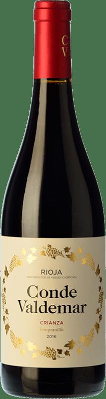15,95 € Envío gratis | Vino tinto Valdemar Conde de Valdemar Crianza D.O.Ca. Rioja La Rioja España Tempranillo, Mazuelo Botella Mágnum 1,5 L