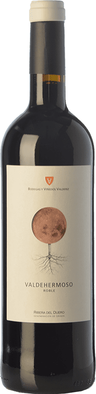 7,95 € Envío gratis | Vino tinto Valderiz Valdehermoso 9 Meses Joven D.O. Ribera del Duero Castilla y León España Tempranillo Botella 75 cl