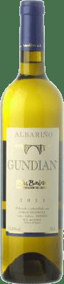 8,95 € Free Shipping | White wine Valdés Gundián D.O. Rías Baixas Galicia Spain Albariño Bottle 75 cl