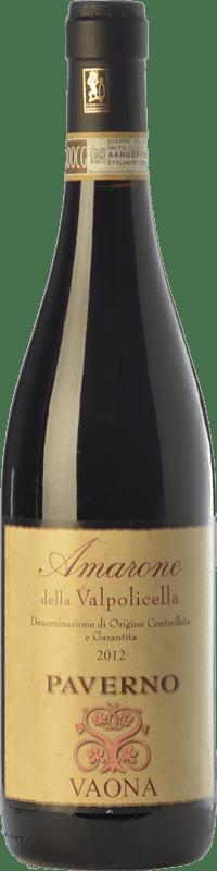 39,95 € Envoi gratuit   Vin rouge Vaona Paverno D.O.C.G. Amarone della Valpolicella Vénétie Italie Corvina, Rondinella, Molinara Bouteille 75 cl