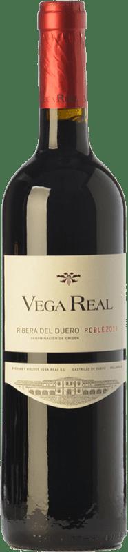 6,95 € Envío gratis | Vino tinto Vega Real Roble D.O. Ribera del Duero Castilla y León España Tempranillo Botella 75 cl