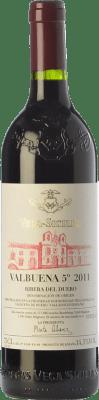 129,95 € Free Shipping | Red wine Vega Sicilia Valbuena 5º año Reserva 2011 D.O. Ribera del Duero Castilla y León Spain Tempranillo, Merlot Bottle 75 cl