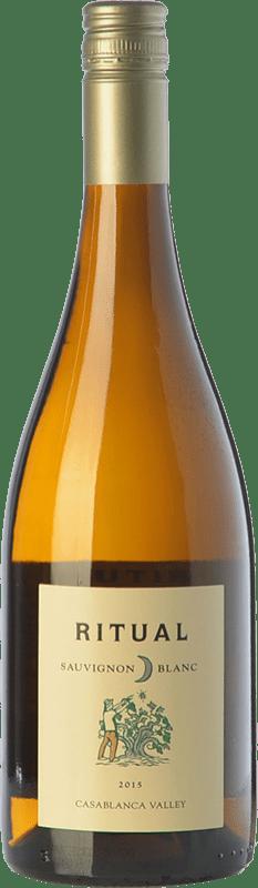 10,95 € Free Shipping | White wine Veramonte Ritual Crianza I.G. Valle de Casablanca Valley of Casablanca Chile Sauvignon White Bottle 75 cl