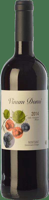 6,95 € Envío gratis | Vino tinto Vermunver Vinum Domi Joven D.O. Montsant Cataluña España Merlot, Garnacha, Cariñena Botella 75 cl