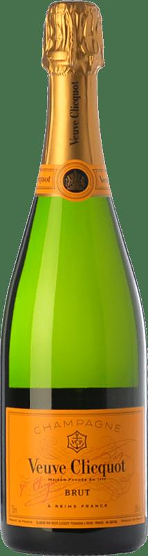 121,95 € Envoi gratuit | Blanc moussant Veuve Clicquot Yellow Label Brut A.O.C. Champagne Champagne France Chardonnay, Pinot Meunier Bouteille Magnum 1,5 L