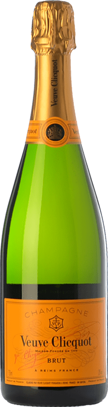121,95 € Free Shipping | White sparkling Veuve Clicquot Yellow Label Brut A.O.C. Champagne Champagne France Chardonnay, Pinot Meunier Magnum Bottle 1,5 L