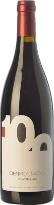 21,95 € Free Shipping | Red wine Vidas 100 Montañas Crianza D.O.P. Vino de Calidad de Cangas Principality of Asturias Spain Albarín Black Bottle 75 cl