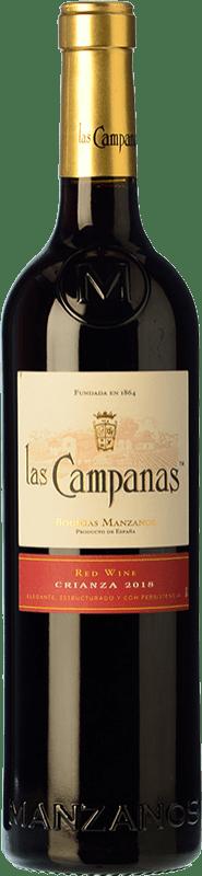 4,95 € Envío gratis | Vino tinto Vinícola Navarra Las Campanas Crianza D.O. Navarra Navarra España Garnacha Botella 75 cl