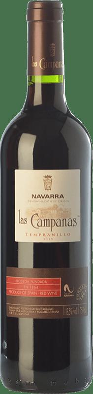 4,95 € Envío gratis | Vino tinto Vinícola Navarra Las Campanas Joven D.O. Navarra Navarra España Tempranillo Botella 75 cl