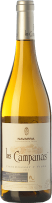 4,95 € Envío gratis | Vino blanco Vinícola Navarra Las Campanas D.O. Navarra Navarra España Viura, Chardonnay Botella 75 cl
