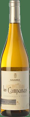 4,95 € Free Shipping | White wine Vinícola Navarra Las Campanas D.O. Navarra Navarre Spain Viura, Chardonnay Bottle 75 cl