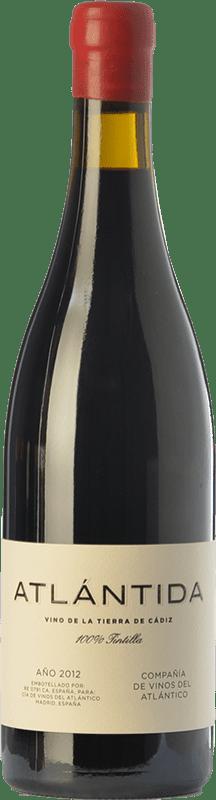 29,95 € Free Shipping | Red wine Vinos del Atlántico Atlántida Crianza I.G.P. Vino de la Tierra de Cádiz Andalusia Spain Tintilla Bottle 75 cl