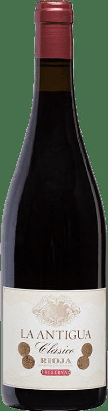 21,95 € Free Shipping | Red wine Vinos del Atlántico La Antigua Reserva D.O.Ca. Rioja The Rioja Spain Tempranillo, Grenache, Graciano Bottle 75 cl