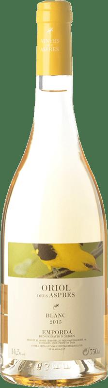 6,95 € Envío gratis | Vino blanco Aspres Oriol Blanc D.O. Empordà Cataluña España Garnacha Gris Botella 75 cl
