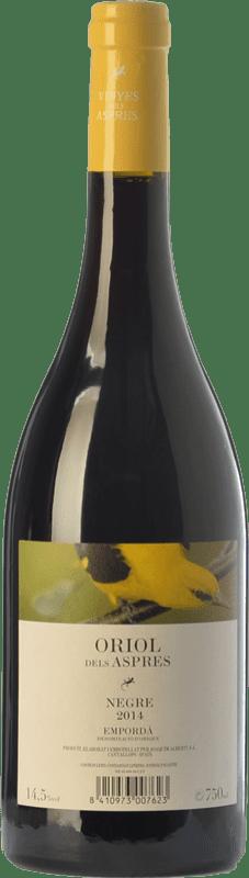 6,95 € Envío gratis | Vino tinto Aspres Oriol Negre Joven D.O. Empordà Cataluña España Garnacha, Cabernet Sauvignon, Cariñena Botella 75 cl