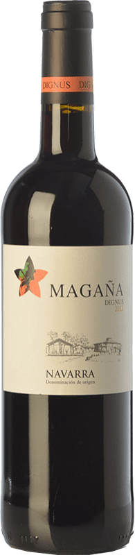 9,95 € Kostenloser Versand | Rotwein Viña Magaña Dignus Joven D.O. Navarra Navarra Spanien Tempranillo, Merlot, Cabernet Sauvignon Flasche 75 cl