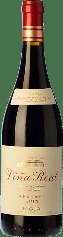 14,95 € Envío gratis | Vino tinto Viña Real Reserva D.O.Ca. Rioja La Rioja España Tempranillo, Garnacha, Graciano, Mazuelo Botella 75 cl