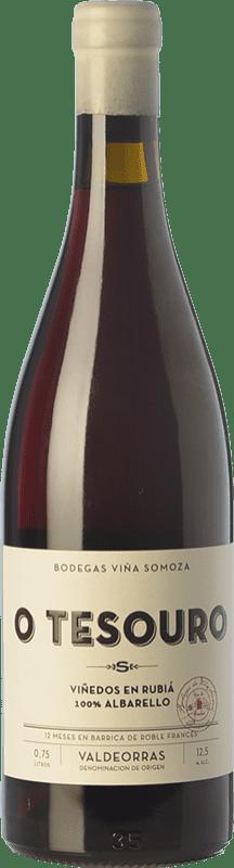 29,95 € Free Shipping | Red wine Viña Somoza Tesouro Joven D.O. Valdeorras Galicia Spain Brancellao Bottle 75 cl
